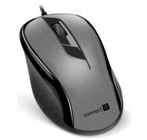 Káblová myš Connect IT CMO-1200-GY, šedá