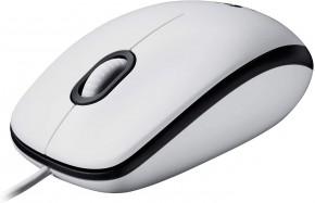 Káblová myš Logitech Corded Mouse M100, biela