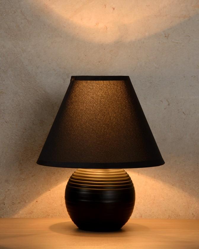 Kaddy - lampička, 40W, E14 (čierna)