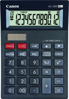 Kalkulačka Canon AS-120R, čierna