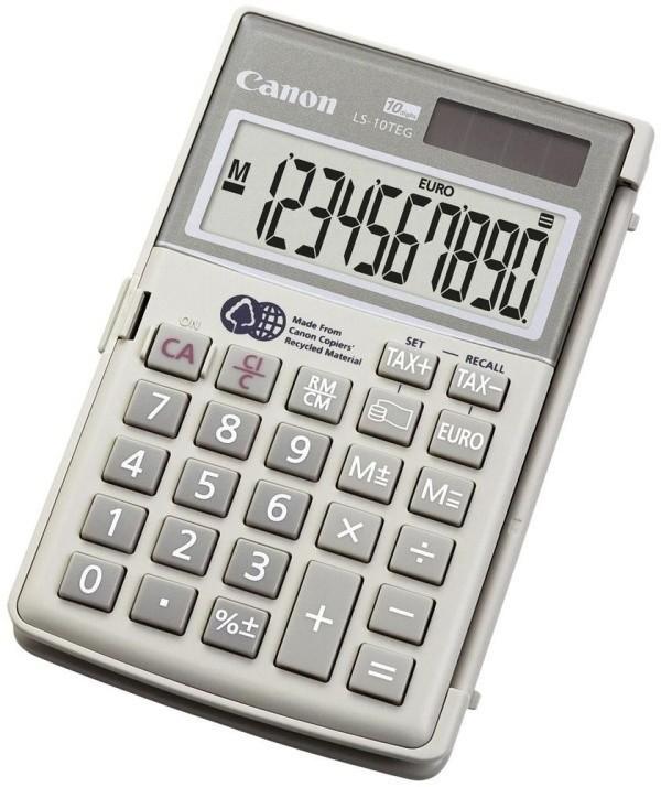 Kalkulačka Canon LS 10 TEG HWB, biela