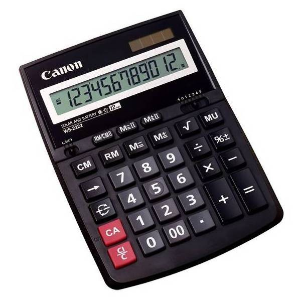 Kalkulačka Canon WS-2222 EURO, čierna