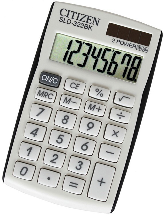 Kalkulačka Citizen SLD-322BK, biela