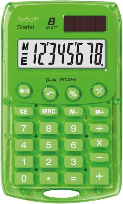 Kalkulačka Rebell StarletGBX, zelená