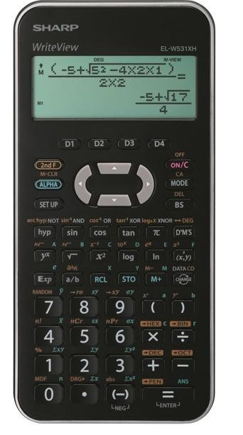 Kalkulačka Sharp EL-W531XHSLC, strieborná