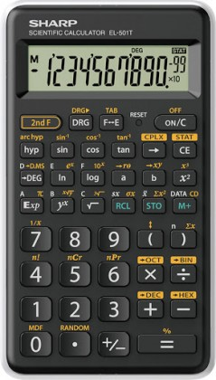 Kalkulačka Vedecká kalkulačka Sharp EL-501TWH, 146 funkcií, 1 riadok, kryt