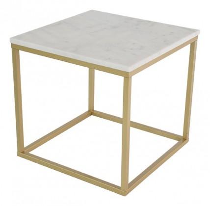 Kamenný Accent - Konferenčný stolík, hnedý rám (prírodný mramor, oceľ)