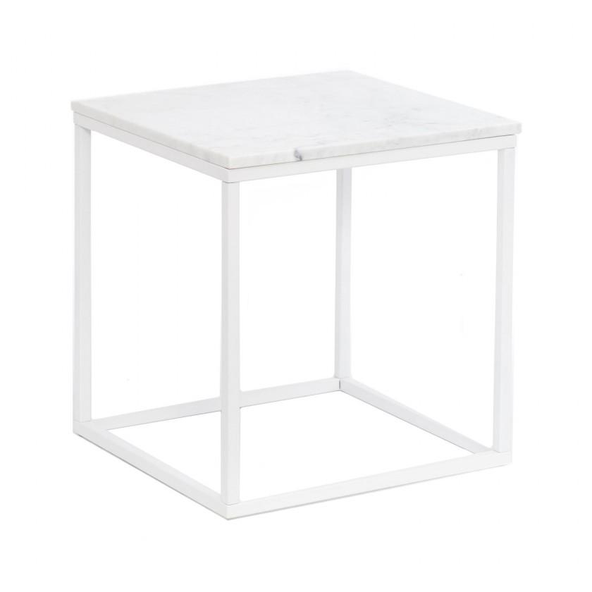 Kamenný Accent - Konferenčný stolík, štvorec (mramor, biela)