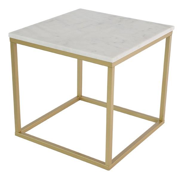 Kamenný Accent - Konferenčný stolík, štvorec (mramor, hnedá)