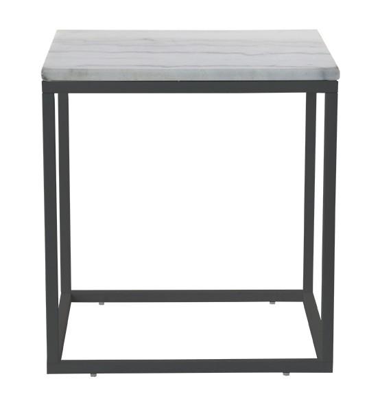 Kamenný Accent - Konferenčný stolík, tmavý rám (prírodný mramor, oceľ)