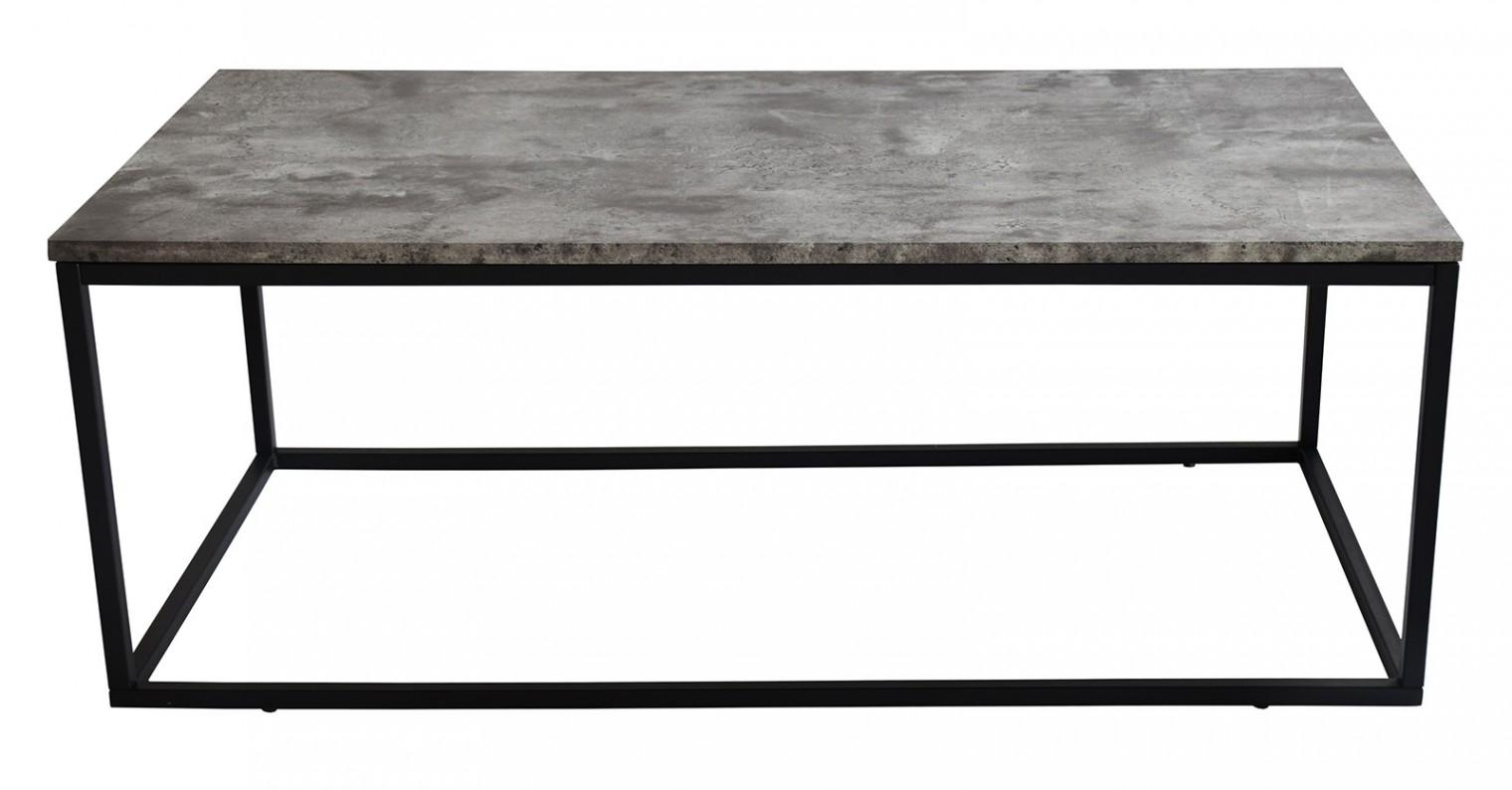 Kamenný Beside - Konferenčný stolík, čierne nohy (kov, sklo)
