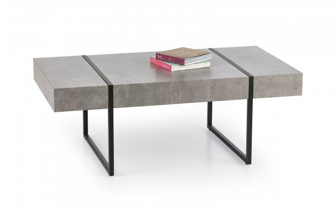 Kamenný Tiffany - konferenčný stolík beton, černý (beton/čierná)