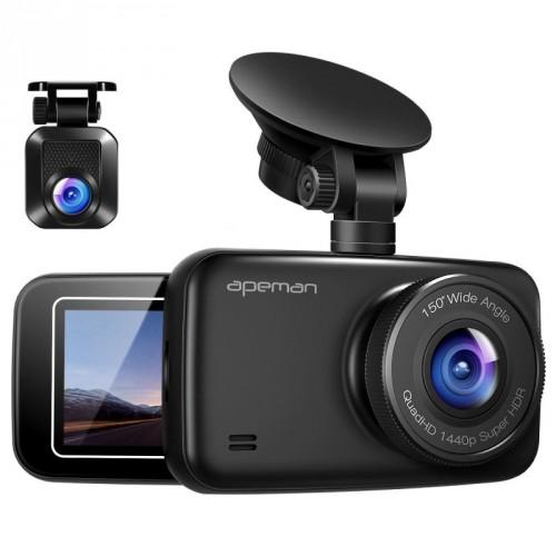 Kamera do auta Apeman C860 GPS, WQHD, WDR, 150 °