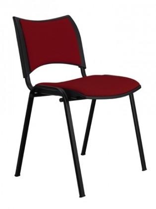 Kancelárie ZLACNENÉ Konferenčná stolička Smart - vínová - II. akosť
