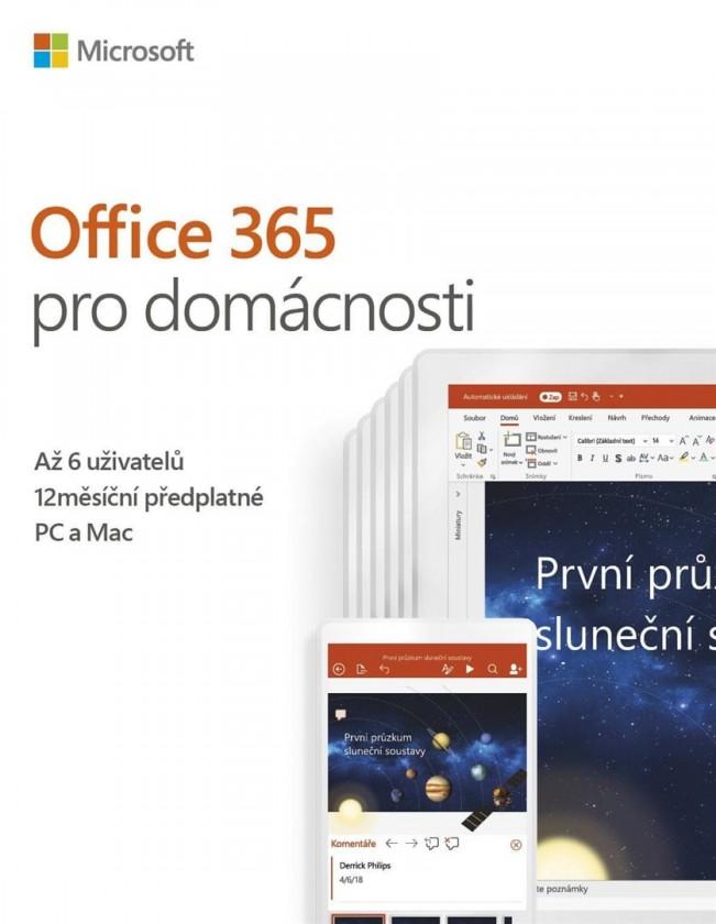 Kancelárská aplikácie Office 365 Home 32-bit/x64 CZ pronájem P4