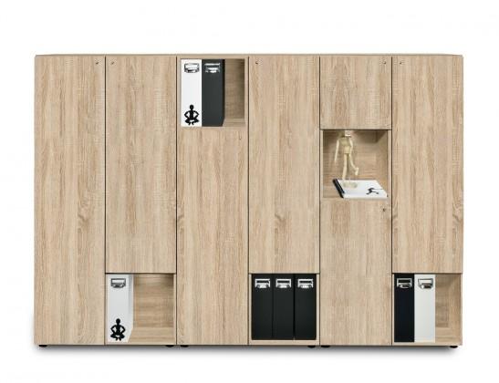 Kancelárska skriňa Work - Skriňa, 211,5x144x36 cm (dub)