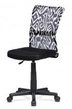 Kancelárska stolička Alice čierna, biela