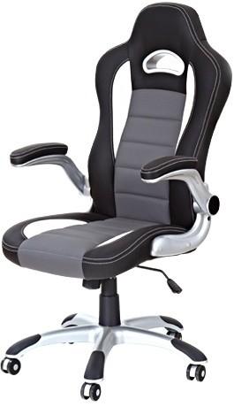 Kancelárska stolička Lotus (čierno-sivá)