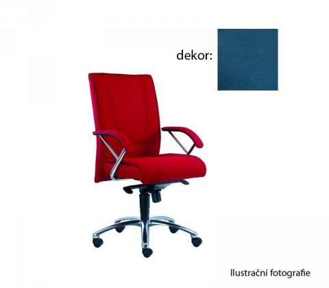 Kancelárske kreslo Demos Prof - Kancelárska stolička s opierkami (kože 166)