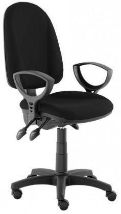 Kancelárske kreslo Dona - s podrúčkami P20, E-asynchro (poťah - koža)