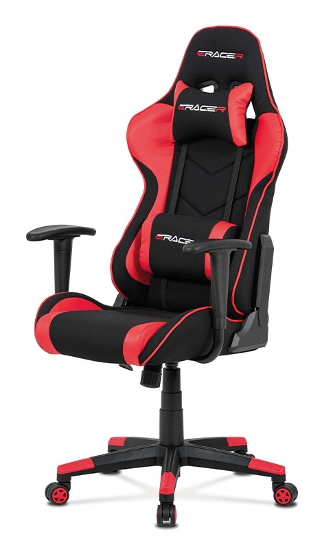 Kancelárske kreslo Herná stolička Crash červená