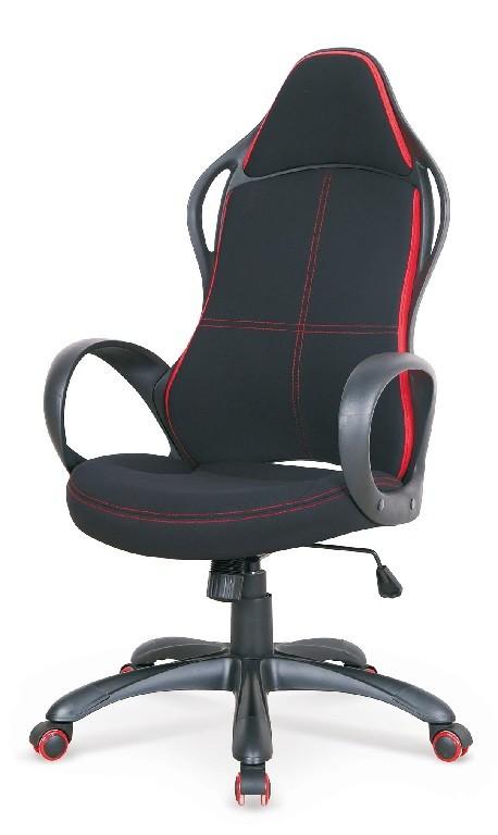 Kancelárske kreslo Herná stolička Easygamer čierna, červená