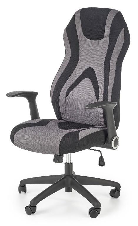 Kancelárske kreslo Herná stolička Fiction čierna, sivá