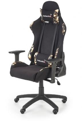 Kancelárske kreslo Herná stolička Playkiller čierna, červená