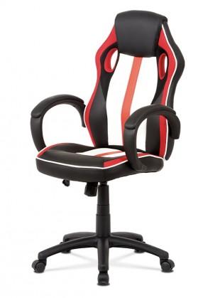 Kancelárske kreslo Herná stolička Quest červená