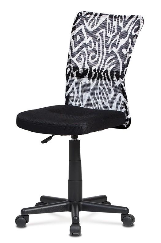Kancelárske kreslo Kancelárska stolička Alice čierna, biela