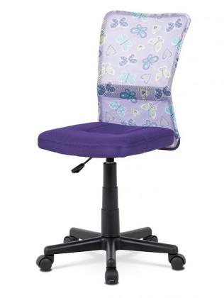 Kancelárske kreslo Kancelárska stolička Alice fialová