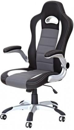 Kancelárske kreslo Kancelárska stolička Lotus (čierno-sivá)