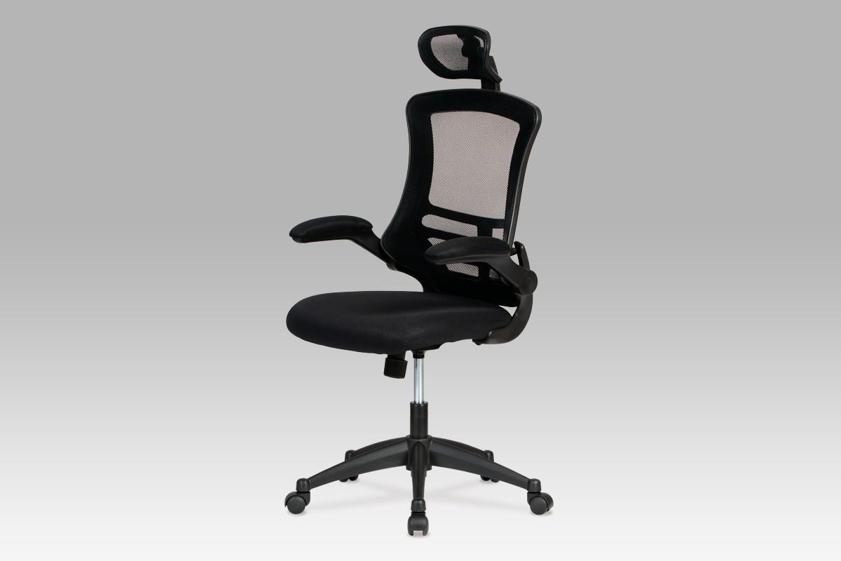 Kancelárske kreslo Kasper Black - Kancelárska stolička (čierna)