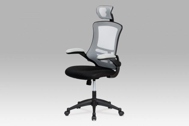 Kancelárske kreslo Kasper Grey - Kancelárska stolička (sivá, čierna)