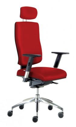 Kancelárske kreslo Notio Boss - s podrúčkami P68, podhlavník, synchro P (poťah - syntetická koža)