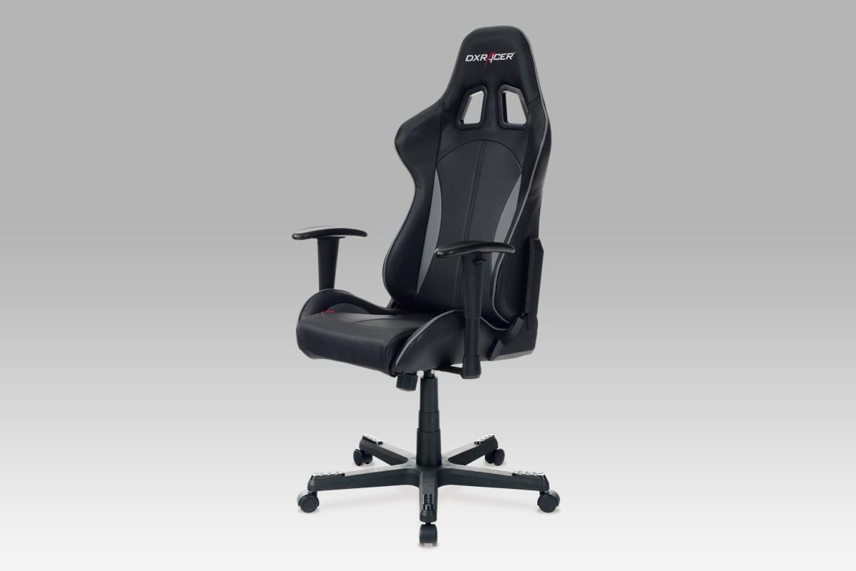 Kancelárske kreslo Racer Blackhawk - Kancelárska stolička (čierna, koženka)