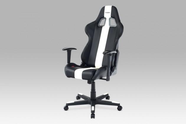 Kancelárske kreslo Racer Viper - Kancelárska stolička (čierna, biela, koženka)