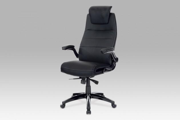 Kancelárske kreslo Smooth - Kancelárska stolička (čierna, koženka)
