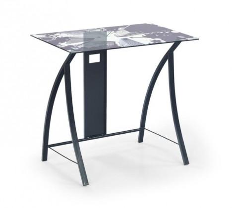 Kancelársky stôl B-21 (Sklo/čierna)