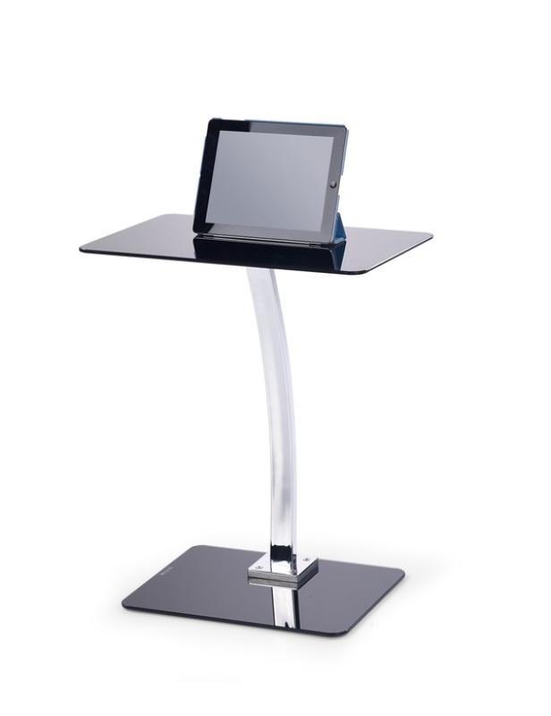 Kancelársky stôl B25 (Sklo čierna/chróm)
