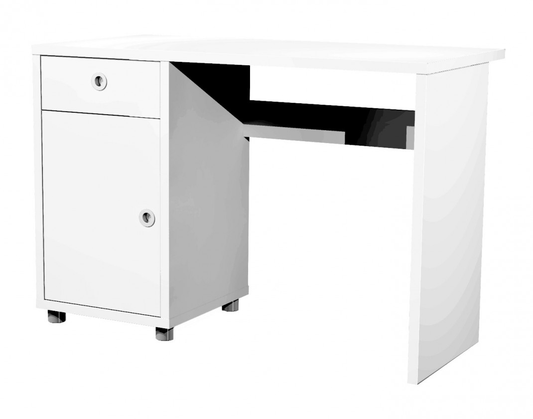 Kancelársky stôl Box - písací stôl (1x dvere, 1x šuplík)