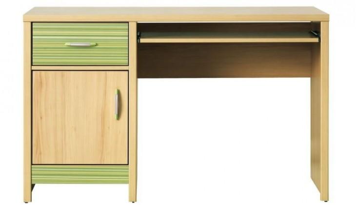Kancelársky stôl Codi CD 11 (Višňa cornvall/zelená)