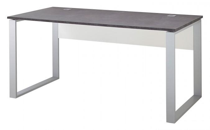 Kancelársky stôl GW-Altino - Stôl (biela/čedičová sivá)