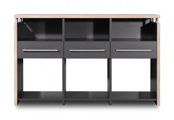 Kancelársky stôl GW-Duo - stôl (antracit, 3 zásuvky)