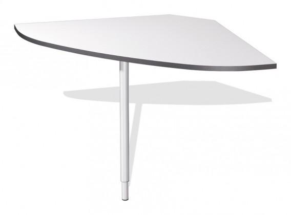 Kancelársky stôl GW-Linea - spojovací roh stola (antracit / biela)