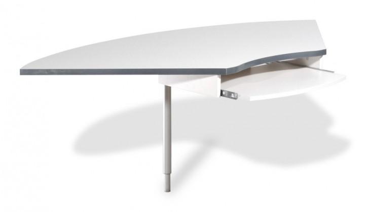Kancelársky stôl GW-Profi-Spojovací roh stola,výškovo nastavitelný (svetle sivá)