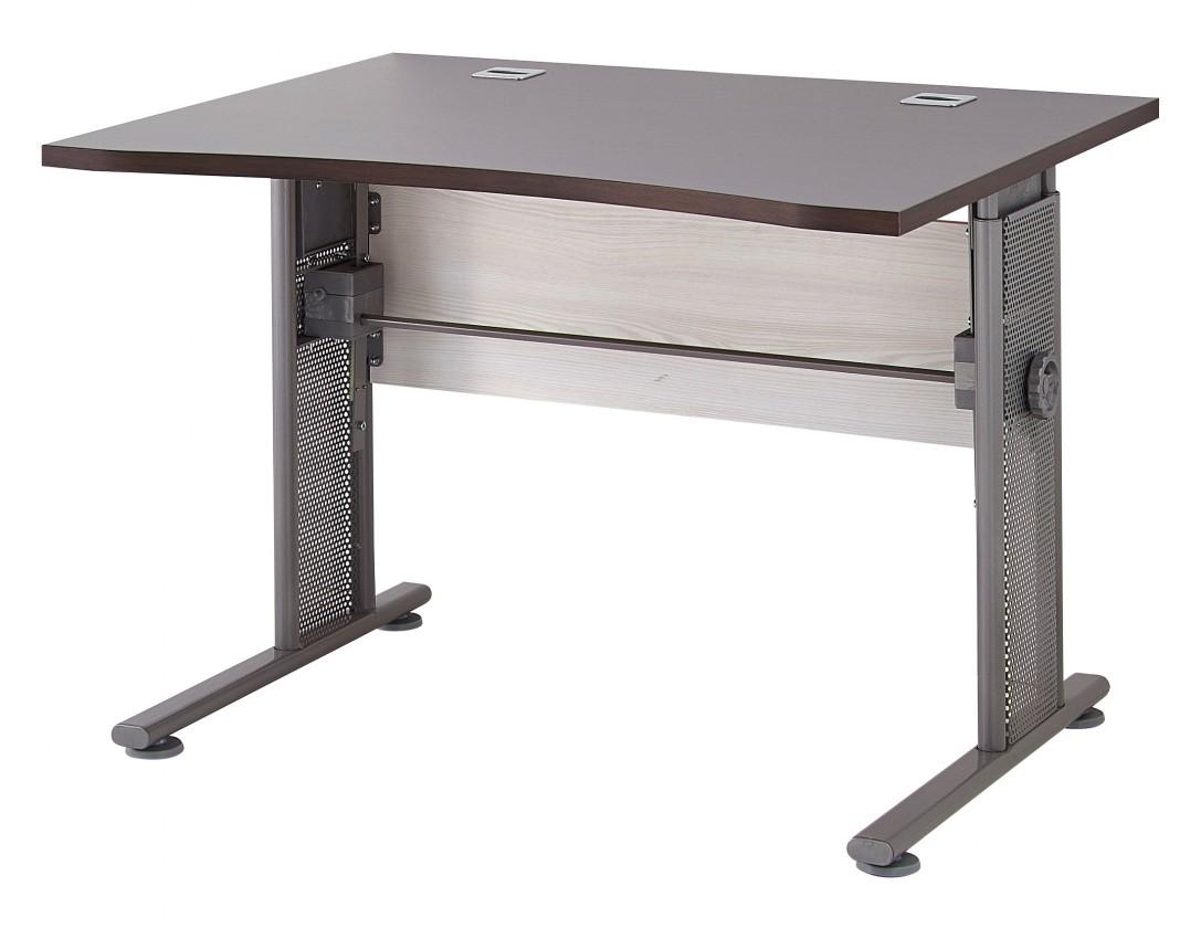 Kancelársky stôl GW-Profi - Stôl s nastaviteľnou výškou (smrekovec/dub havana)