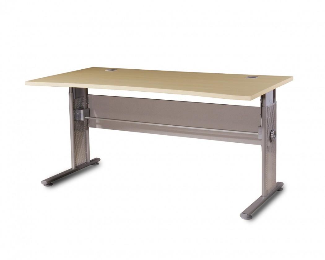 Kancelársky stôl GW-Profi-Stol,výškovo nastavitelný,š. 160cm (javor/strieborná)