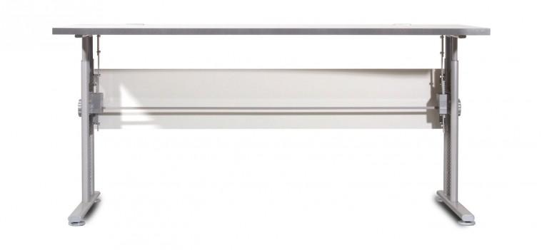 Kancelársky stôl GW-Profi-Stol,výškovo nastavitelný,š. 160cm (svetle sivá)