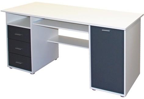 Kancelársky stôl Jurášek (Biela/antracit)